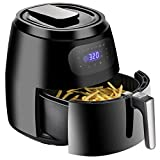 SUPER DEAL Pro 1700W Digital Air Fryer 7.6 Quart Extra Large Capacity Oven Cooker with 7 Cooking Presets Auto Shut off & Timer Dishwasher Safe Parts Recipes & CookBook