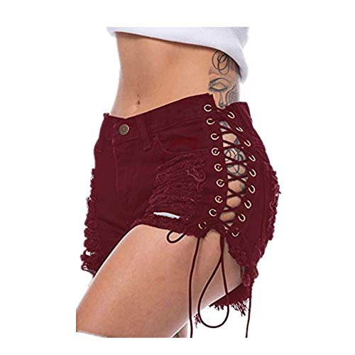 Dasongff damesbroek, shorts voor zomer, hotpants, bermuda en ultra-jeans, leggings, strand, hardlopen, gym, yoga, sportbroek, slaappak, destroyed ripped high waist