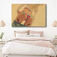 セクシー下着モデル写真プリントバスルーム寝室壁装飾女性お尻セクシー絵画複数サイズ帆布エロ壁アートパネルセクシーモデルポスター装飾