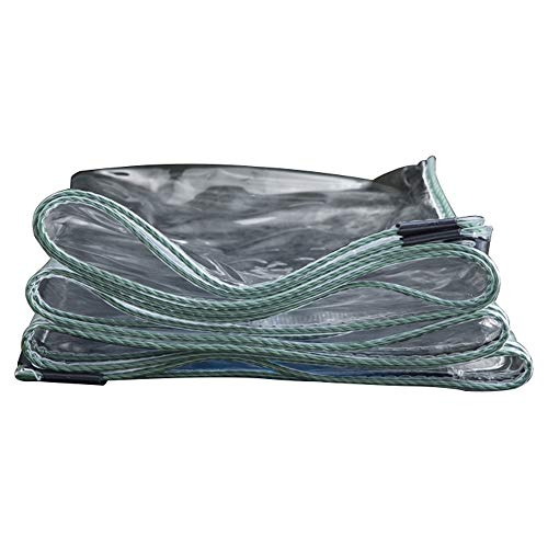 LHR Tarpaulin Waterproof Heavy Duty Transparent tarpaulin balcony tarpaulin thick transparent plastic cloth soft cloth PVC tarpaulin, 20 sizes (Size : 1mX1.5m)