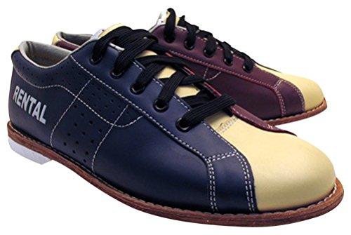 Bowlerstore Damen BSSTCLARENTPLUSL1S02 Classic Plus Rental Bowling-Schuhe, Größe 39,5 cm, Cremefarben, Blau Rot Creme, 5 1/2 US M