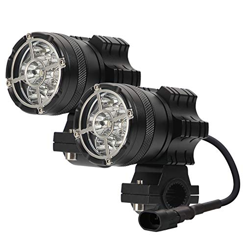 2 unids Universal 60W Focos de motocicleta LED Fightlights, 6 LEDS Motorbike Conducción Fujos de niebla Lámpara auxiliar Luces de funcionamiento DORNO 12-24 V FIT FOR PARA TRIKES BICICLE COUS BOAT