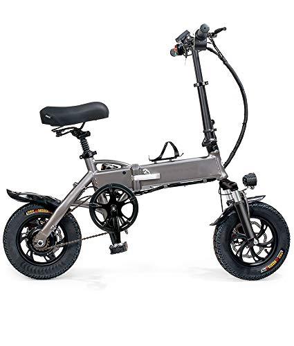 TINGYIN Bicicleta eléctrica plegable Mini Scooter Eléctrico Batería de Litio,Estación de Alta...