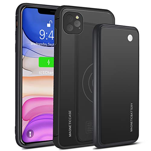 ZUKABMW Funda Bateria para iPhone 11 Pro MAX 6.5', 5000mAh [ Soporte de Carga inalámbrica ] Batería Cargador Batería Externa Recargable Portatil Power Bank para iPhone 11 Pro MAX 6.5 Pulgadas