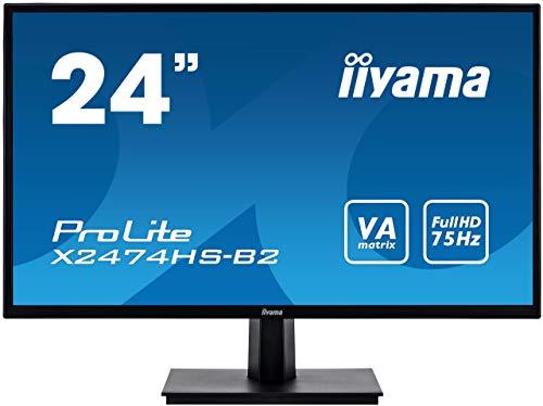 "Iiyama Prolite X2474HS-B2 Ecran LED 23,8"" AMVA LED Full HD 4 ms VGA/DP/HDMI Multimedia Noir"