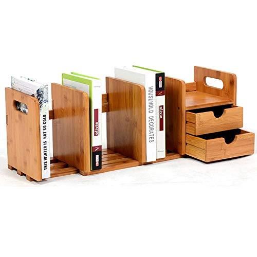 Expandable Desk Organizer boekenkast met lades, opslag dozen bamboe bureau plank make-up organisator Ordnungsbox Officebox,Yellow
