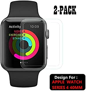 TASLAR Front Screen Scratch Guard Protector [Max Coverage] [Anti-Bubble] HD Clear Compatible with Apple Watch Series Series 5 / Series 4 40mm (Pack of 2)