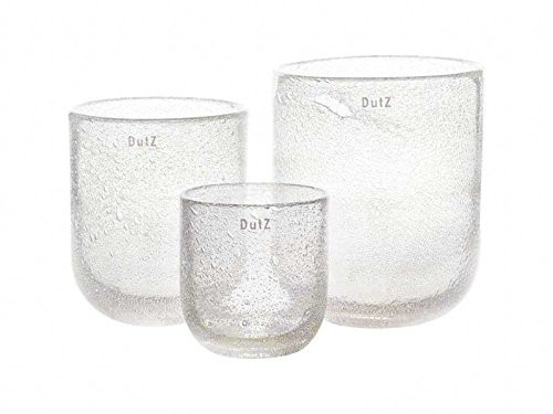 Dutz Vase, Clear Bubbles (H14 D12)