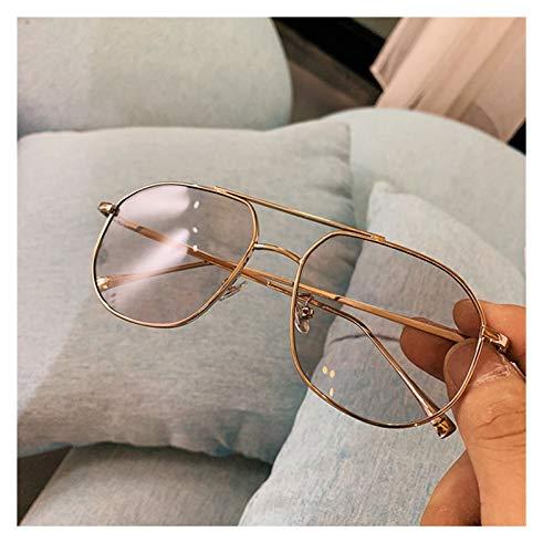 SSN Aviator Style Retro Caja Gafas De Sol Femenina Versión Coreana De Las Gafas De Visión Nocturna Amarilla Clásica De Los Hombres De Moda, Gafas De Sol Gafas De Sol (Color : E)