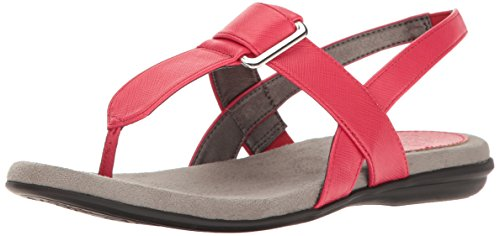 LifeStride Women's Brooke Flat Sandal, Punch, 5.5 M US