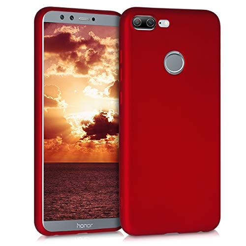 kwmobile Hülle kompatibel mit Huawei Honor 9 Lite - Handy Hülle Metallic Dunkelrot