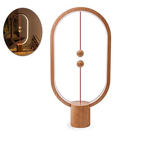 Lámpara de Equilibrio Heng - Lámpara de Mesa LED Interruptor Magnético en el Aire [USB Alimentado] Balance Lámpara de Noche Cuidado de Ojos Decoración para Dormitorio, Salón y Oficina (A)