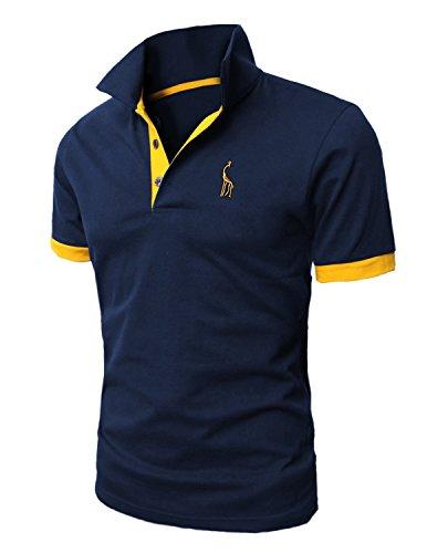 STTLZMC Poloshirts Herren Basic Kurzarm Polohemd M-XXL, Blau 1, XXL