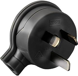 106/1BL 3 Pin Flat Plug Top Black HPM 106/1Bl Side Entry Rated: 10Amp 240Volts Ac Rated: 10Amp 240Volts Ac, Colour:Black