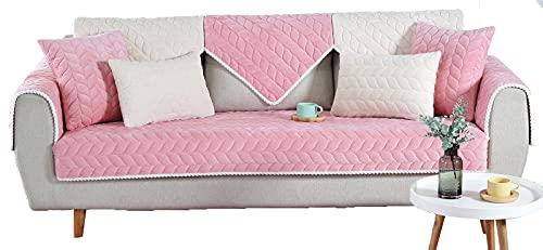 Fundas de sofá para sillón, fundas de sofá, protector de muebles, color rosa 70 x 70 cm