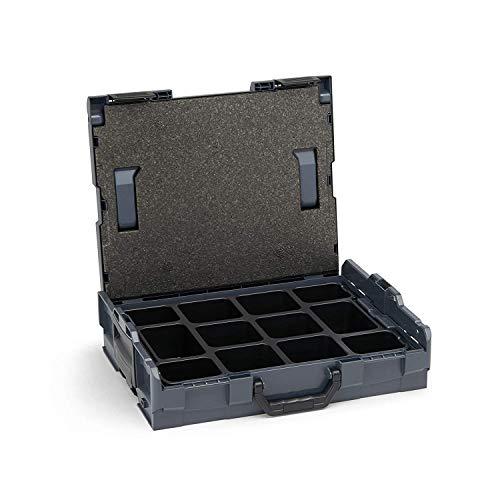 Bosch Sortimo L-boxx 102 Gr1 Antracite Incl. Piccoli Componenti con 12 Scompartimenti