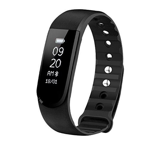 Mpow Fitness Armband mit Pulsmesser,Wasserdicht IP67 Smartwatch Fitness Uhr Pulsuhren Fitness Tracker Aktivitätstracker Schrittzähler Uhr für Damen Herren Anruf SMS Beachten