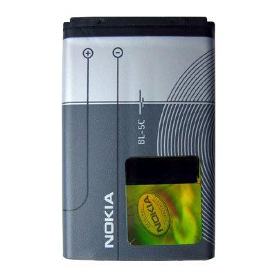 Original Nokia batería de repuesto BL-5C para Nokia 1100/1101/1110/1110i/1112/1600/2300/2310/2600/2610/2626/3100/3120/3650/3660/6030/6085/6086/6230/6230i/6270/6600/6630/6670/6680/6681/6820/6822/7600/7610/E50/E60/N70/N71/N72/N91/N-Gage