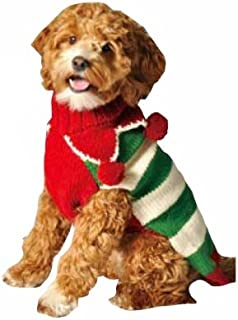 Chilly Dog Christmas Elf Dog Sweater, XX-Large