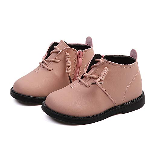 Boys Girl Boot Kids Warm Fur Lined Waterproof Anti-Slip Winter Boot Cold Weather Indoor Outdoor Ankle Boot Shoes