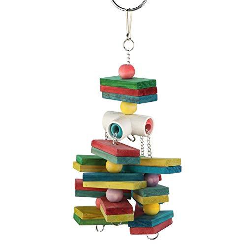 Pet Parrot Chewing Toy, Pet Bird Hanging Climbing speelgoed Chewing Bite Biting Staande platform met kleerhanger