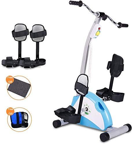 YULL Jambes et Bras Exerciseur à pédales, Mini-vélo d'exercice avec écran LCD et de résistance réglable for Doux Exercice de Votre supérieur et inférieur du Corps 7.6