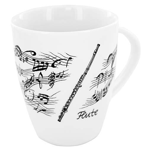 Tasse Querflöte, schönes Geschenk für Flötisten