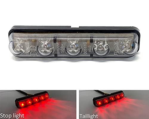 Moto LED Stop Fanale posteriore in esecuzione piccolo micro mini lente fumé E-MARKED