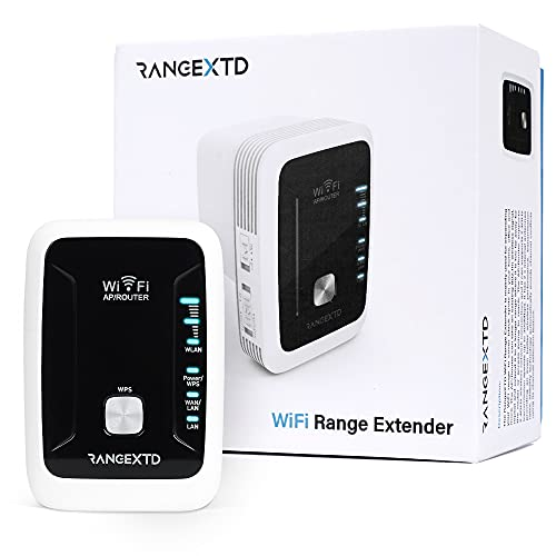 RANGEXTD Amplificateur WiFi Répéteur WiFi Puissant - Portée WiFi élargie | Booster WiFi Jusqu'à 10 appareils | Amplificateur WiFi Range XTD - WiFi Repeater | Booster de 300 Mbps | Bande 2,4 GHz