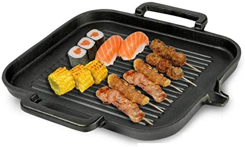 YAYY Gietijzeren bakplaat Thuis Anti-aanbakplaat Barbecue Grillplaat (Upgrade)