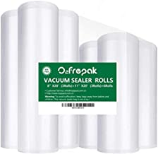 "Premium!! 6 Pack 8""x20'(3Rolls) and 11""x20' (3Rolls) Food Saver Vacuum Sealer Freezer Bags Rolls for Food saver, Seal a Me..."