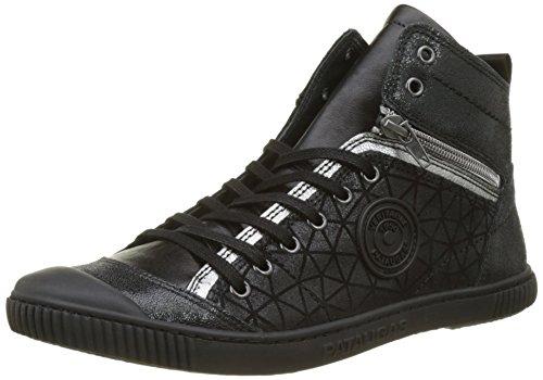 Pataugas Damen BANJOU Hohe Sneaker, Schwarz, 36 EU