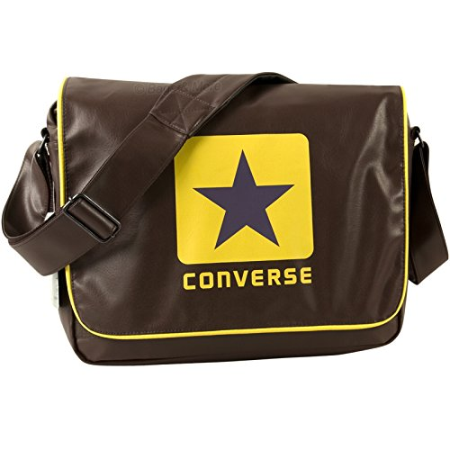 Converse Umhängetasche BLOCKLOGO PU SHOULDERFLAP Notebooktasche Braun