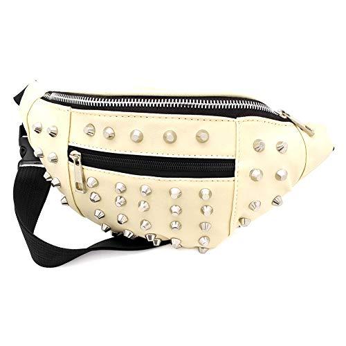 Cream Colour Studded Bum Bag