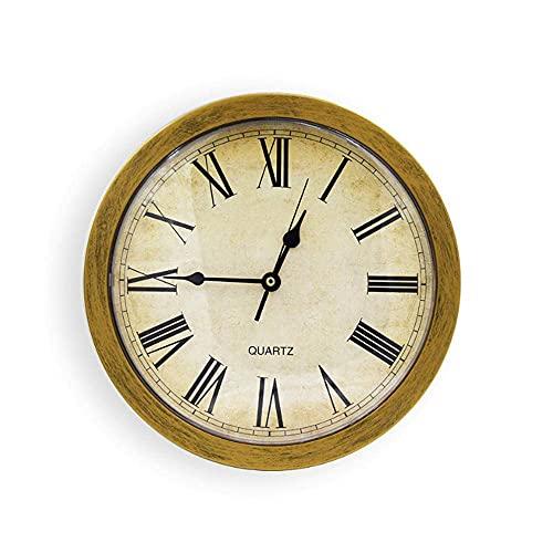 1pcs förtjockad lagring Guldväggsklocka Säker väggklocka Förvaring Klocka Smycken Box Klocka Väggmonterad Förvaringslåda Heminredning