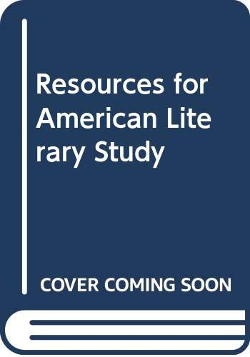 Price comparison product image Resources for American Literary Study: v. 32