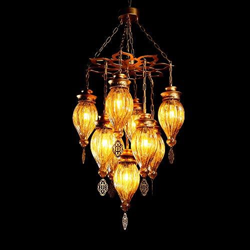 PHLPS Lámpara colgante Estilo del sudeste asiático de la lámpara de techo de estilo tailandés Casa Club de iluminación artística moderna del accesorio de iluminación, for Restaurante Cafetería Bar Com