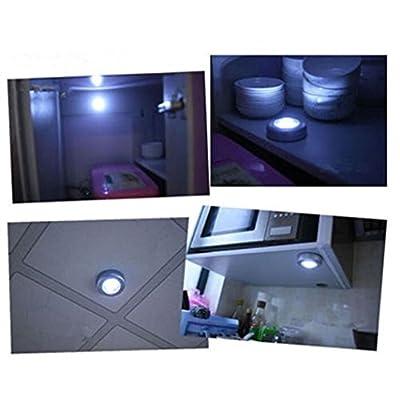 LED Light ,Lavany® 4 LED Touch Night Light Home Kitchen Under Cabinet Closet Push Stick On Lamp