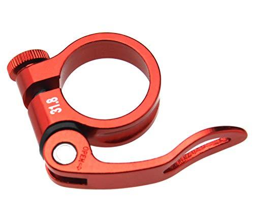 Abrazadera para tija de sillín de bicicleta de montaña de 31,8 mm,...