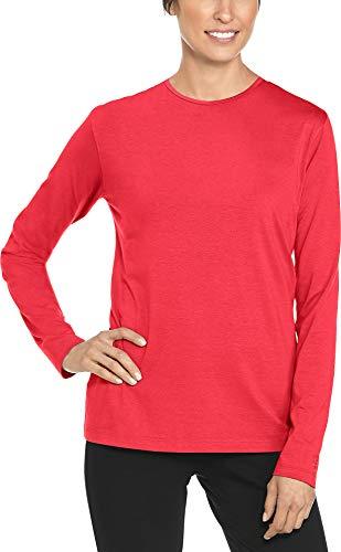 Coolibar UPF 50+ Women's Morada Everyday Long Sleeve T-Shirt - Sun Protective (Medium- Poppy Red)