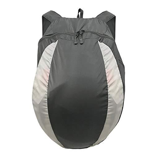 QPY Motorrad-Rucksack, 28L Wasserdicht Helmtasche, Motorradfahrer, Helm-Trageriemen, Reithelmtasche, Outdoor-Fitness-Basketballtrainertasche