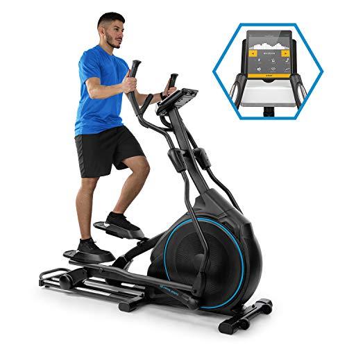 Capital Sports Helix Star DR Cross Trainer mit Trainingscomputer Heimtrainer (Kinomap-App-Unterstützung, Bluetooth, Schwungmasse: 27 kg, 32-stufiger Magnetwiderstand, Pulsmesser) schwarz