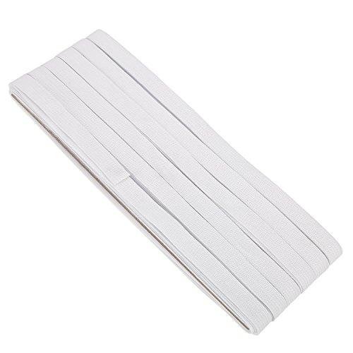 White Wide Sewing Elastic Knit Elastic Spool (1/2 Inch x 22 Yards)