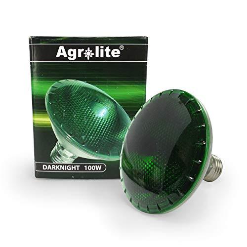 Bombilla de cultivo halógena Verde Agrolite Dark Night E27 240V (100W)