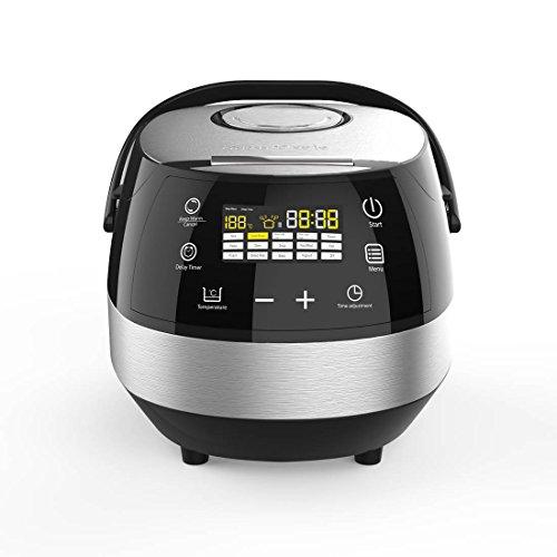 CleverChef 01046 14 in 1 Intelligent Digital Multi Cooker, Aluminum, 860 W, 5 liters, Chrome