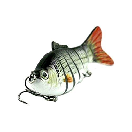 BKAUK 1 stks 100mm/18g Luya aas Lure Zacht aas met Haak, vliegen vissen spelletjes rollen vissen lokaas vissen rollen vissen levert beste bas kunstaas Zwart en wit