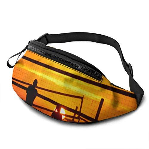 Yushg Marsupio Regolabile per Giocatore di pallavolo da Spiaggia Borsa a Vita con Jack per Cuffie e Tracolla Regolabile per Donna per Viaggi Sportivi Escursionismo
