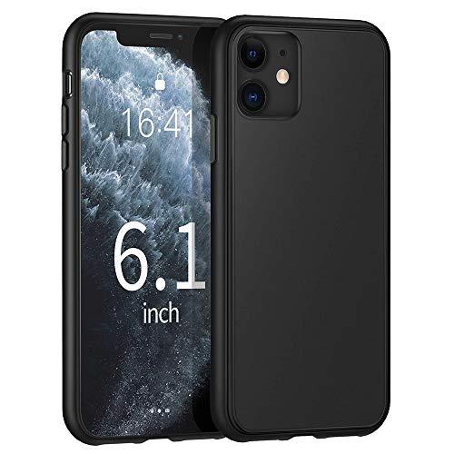 Agedate Hülle Für iPhone 11 Handyhülle Schwarz Silikon Hülle Kompatibel mit iPhone 11, Ultra Dünn Weich TPU Handyhülle Stoßdämpfend Anti-Fingerabdruck Kratzfest für iPhone 11,Black