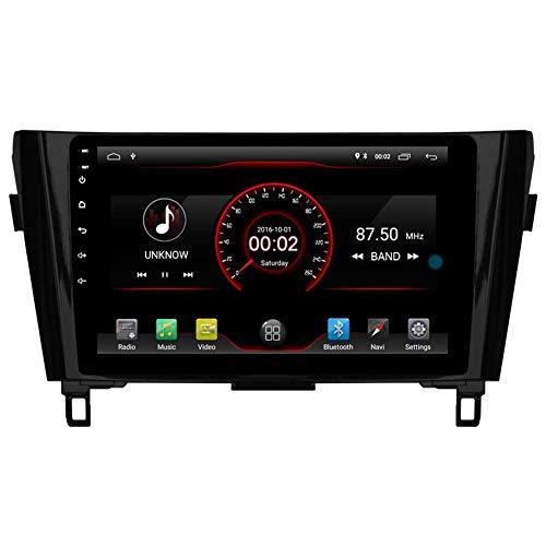 Android 10 Car Radio Player GPS Navegación Estéreo para Nissan X-Trail Qashqai Rogue 2014 2015 2016 2017 Headunit BT WiFi Control de volante con control de la rueda con cable incorporado