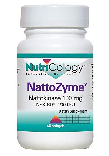 NutriCology NattoZyme Nattokinase 100 mg NSK-SD 60 Softgels